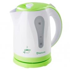 Чайник Sakura SA-2326G бел/зелен. 1.8л.