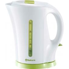 Чайник Sakura SA-2515G бел/зел (1,7)