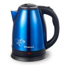 Чайник Sakura SA-2134 BL син мет.+черн.д (1,8л)