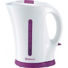 Чайник Sakura SA-2515BL бел/сирен (1,7)