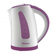 Чайник Sakura SA-2337 P бел/слив 2,0л