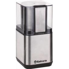 Кофемолка Sakura SA-6161S 200ВТ 80гр сталь