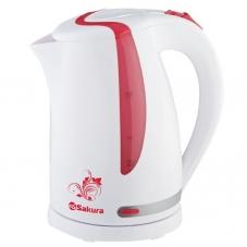 Чайник Sakura SA-2318R бел./красн. 1.7л