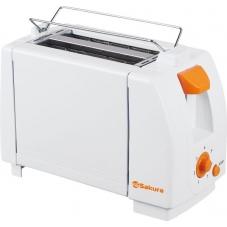 Тостер Sakura SA-7600А бел/оранж нерж.